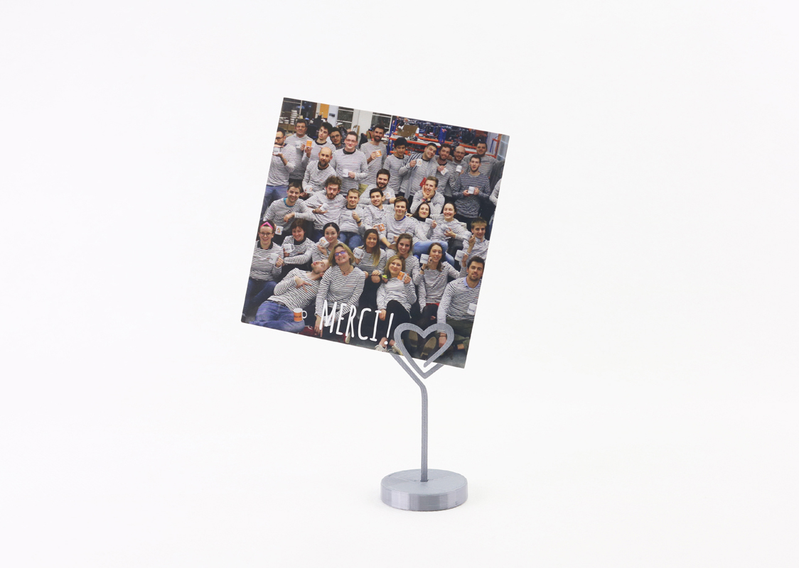 Photo holder heart